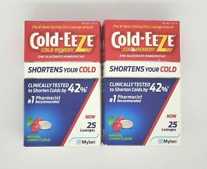 Cold-Eeze Cherry Cold Remedy Lozenges 25 Count Pack of 2
