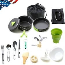 18x/Set Camping Cookware Kit Outdoor Backpacking Hiking Picnic Cooking Equipment