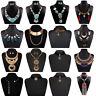 Fashion Womens Statement Chunky Collar Pendant Choker Bib Necklace Chain Jewelry