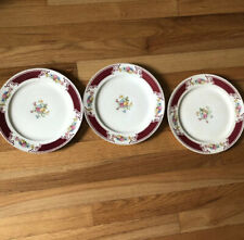 """(3) Homer Laughlin MAJESTIC 9"""" LUNCH Plates~ Vintage"""