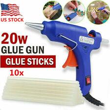 20W 110V Hot Melt Glue Gun Repair Tool Heat Gun with 7mm 10x Sticks DIY Crafts
