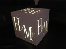 Wooden Home Lightbox Warm White Lights