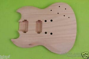 Unfinished Guitar Body mahogany Wood SG style Set In DIY electric guitar