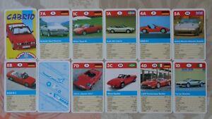Quartett Auto Cabrio BMW Z1 BMW M3 Ferrari Testarossa Spyder Opel Keinath Bitter
