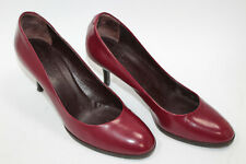 MAX MARA  women shoes sz 7.5 Europe 38 red leather S7854