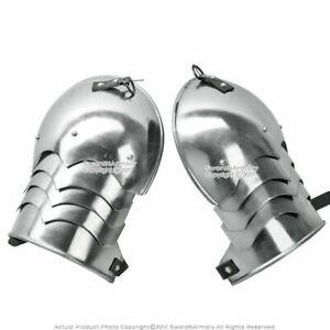 Pair of 18G Steel Gustav Spaulders Pauldron Armour Medieval Rena SHOULDER