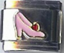 Pink High Heel Shoe 9mm Italian Charm Fits Standard Bracelet