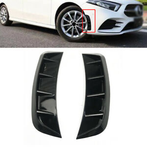2Pcs Car Side Door Fender Vent Air Wing Cover Front Wheel Eyebrow L + R Decorate