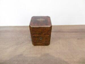 ancienne boite coffret à jeux de cartes en marqueterie NAP III