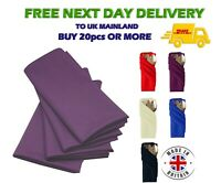 "PURPLE Polyester NAPKINS for Wedding Table Linen Dinner Napkin 20"" x 20"" UK"