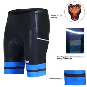 ProAthletica Men's 3D Anti-Bac Padded Sublimated Cyclist MTB Shorts with Pocket