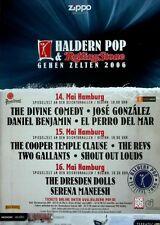 HALDERN POP - 2006 - Konzertplakat - Divine Comedy - Dresden Dolls - Cooper