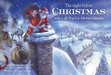 Caspari Pop-Up Advent Calendar and Story Book, Night Before Christmas (ADV218)