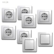 Ekonomik Kit de démarrage 8 pièces Blanc Flush 250V ~ interrupteur & prises