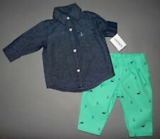 Baby boy clothes, 4T, Carter's Jean dress shirt, matching pant/SEE DETAILS