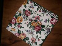 "Longaberger Single Fabric Napkin 17"" x 17"" Square RETIRED Garden Splendor Ne"
