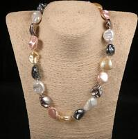 """Hot 16""""18""""22"""" 25"""" 11-14mm Baroque Shape South Sea Shell Pearl Necklace  02"""