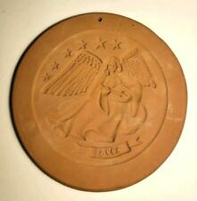 Hartstone VTG First Edition Cookie Mold Angel Playing Instrument Stars 1978