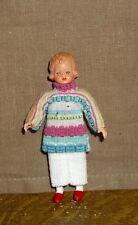 Puppenstubenpuppe, Miniatur 1:12, Caco (Canzler), Mädchen in warmer Kleidung