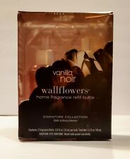 Bath & Body Works Vanilla Noir Wallflower Home Fragrance Refills 2 Bulbs Rare