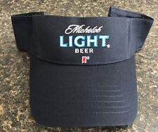 New AUTHENTIC Michelob LIGHT Beer Golf Visor Hat Navy Blue FREE SHIPPING