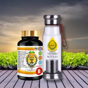 Organic Greek Vitamin B Complex + Vitamin Bottles. Hydrogen Alkaline Generator W