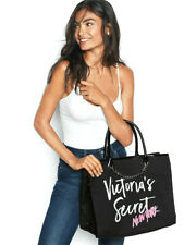 U.S.A. VICTORIA'S SECRET Angel City Tote Bag Luxe-Black - Pink New York