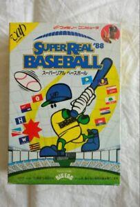 New!Super real Baseball '88 / FC NES Nintendo Famicom Japanese version