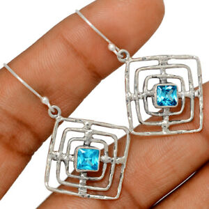 Blue Topaz 925 Sterling Silver Earring Jewelry BE47265 253H