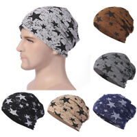 Men Women Unisex Star Warm Crochet Winter Knit Ski Beanie Skull Slouchy Caps Hat