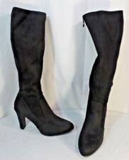 Womens Tahari Black Tall Soft slouchy top Suede Sexy Boots Heels sz 9M