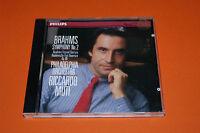 "CD BRAHMS ""SYMPHONIE N°2"" PHILADELPHIA ORCHESTRA RICCARDO MUTI / PHILIPS TB ETAT"
