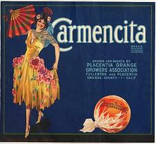 *Original* CARMENCITA Spanish Dance Fullerton Placentia Orange Label NOT A COPY