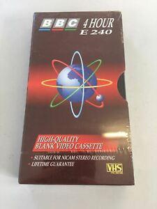 VHS - BBC 4 Hour E240 High Quality Blank Video Casstte NEW  PAL