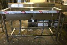 Commercial Catering Kitchen Stainless steel Double bowl sink 1450mm x 600mm