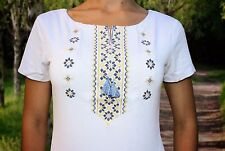 Ukrainian embroidered sorochka, women's t-shirt, vyshyvanka, embroidery, Size XL