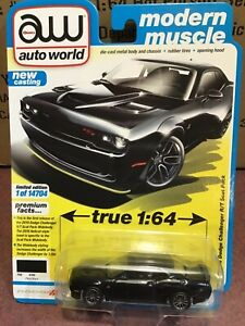 Auto World  2019 Dodge Challenger R/T Scat Pack.   Pitch Black
