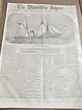 US NAVY CIVIL WAR GUNBOAT FLEET  ILLUS NEWS 1861