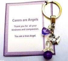 Thank you Gift Carer, Nursing Home, Midwife, Other Guardian Angel Key ring