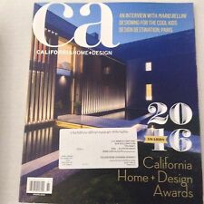 California Home & Design Magazine Mario Bellini Spring 2016 Awards 062917nonrh