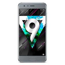 "NUOVO Huawei HONOR 9 ghiacciaio grigio 5.15"" 64GB DUAL SIM 4G LTE Android 7.0 SIM GRATIS"