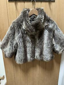 Lipsy Faux Fur Shrug Jacket Size 12