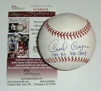 BREWERS Cecil Cooper signed baseball w/ 1980 AL RBI Champ JSA COA AUTO Autograph