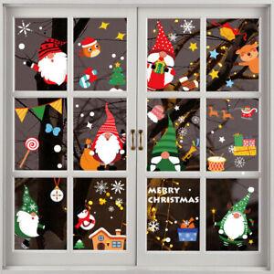 Christmas Santa Removable Window Stickers Xmas Festival Wall Glass Door Sticker