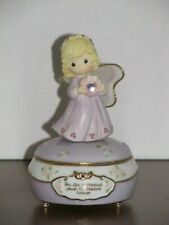 Precious Moments February Faith blonde figurine Nib