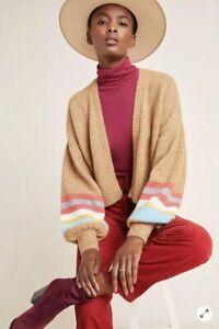 NEW Anthropologie Layla Cardigan Sweater Size M Charli Alpaca Wool