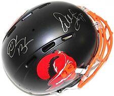 Warren Sapp & Derrick Brooks Signed Buccaneers Matte Black Full-Size Helmet