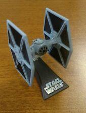Star Wars Early Titanium Die Cast Tie Fighter Gray w/stand