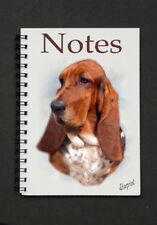 Basset Hound Dog Notebook/Notepad with small image on every page - By Starprint
