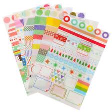 6pcs/Set Transparent Calendar Scrapbook Diary Book Decor Paper Planner Sticker